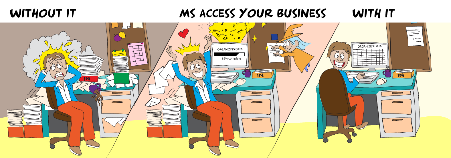 MS Access your Business Title Page